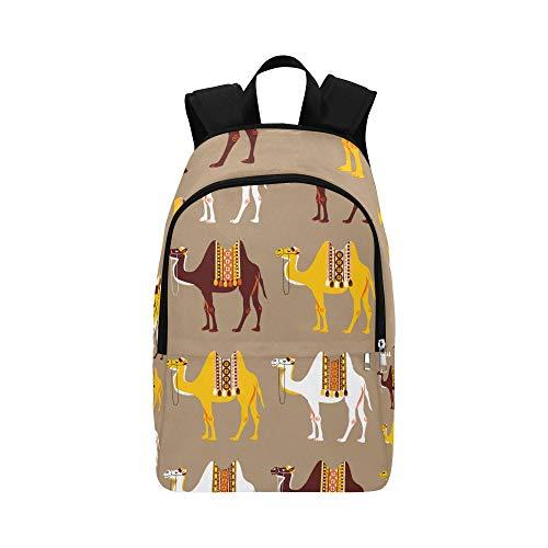 Schultasche für Mädchen Camel African Animal In Desert Robuste, Wasserabweisende, Klassische, kleine Reisetasche Große, lässige Einkaufstasche Tageswandertasche Lehrer-Schultasche