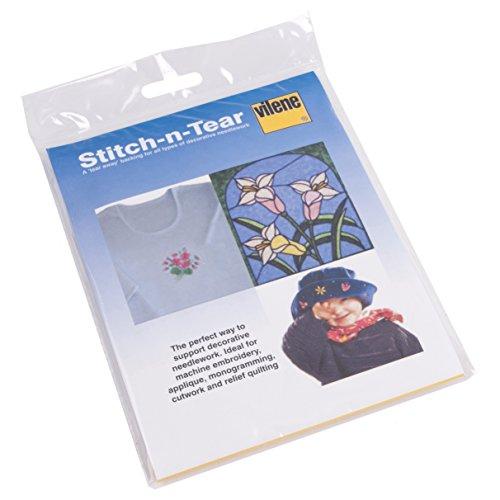 Vilene 90cm x 36cm Stitch-n-Tear für Absteppen garantiert und Patch Work