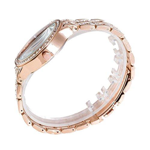 Happy Hours – Classic Rose Gold Big Dial Alloy Crystal Rhinestone Quartz Leisure Wrist Watch