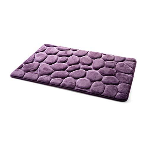 Coral Fleece Bathroom Memory Foam Rug Kit Toilet Bath Non-slip Mats Floor Carpet Set Mattress For Bathroom Decor 40x60cm - Purple,A1