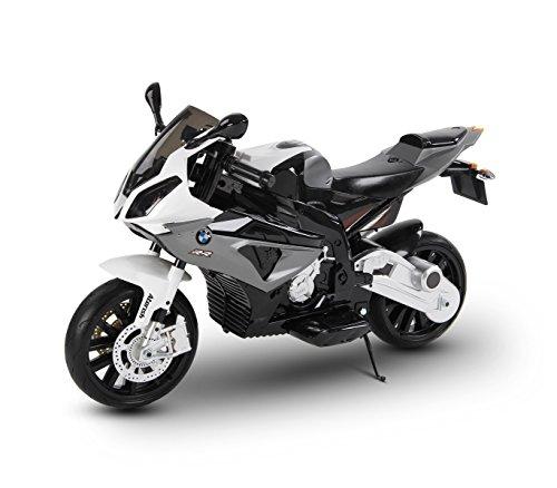 Moto elettrica Grigia LT832 per Bambini BMW Sedile in Pelle accensione con Chiave. Media Wave Store