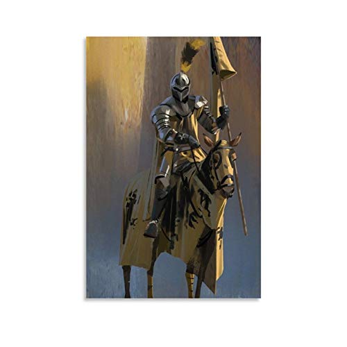 XIAOQIANG Medieval Knight Farnath Room Decor Poster Decorative Painting Canvas Wall Art Living Room Posters Bedroom Painting 08x12inch(20x30cm)