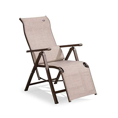 PURPLE LEAF Outdoor Zero Gravity Relaxsessel Terrasse Lounge Stuhl klappbar Pool Strand Camping Rasen Stuhl für Indoor Büro Sonnenbade Deck, Kaffee