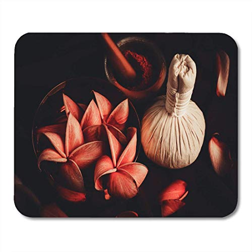 Mouse pads herbal thai of spa high angle compress flower life mouse pad for notebooks, Desktop computers mats office supplies