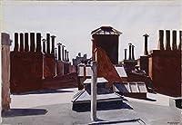 Edward Hopper ジクレープリント キャンバス 印刷 複製画 絵画 ポスター (ワシントン広場)