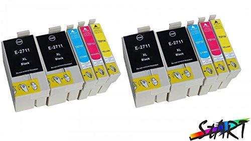 Start - Cartuchos de tinta con chip compatibles con Epson 27XL, T2711XL, T2712XL, T2713XL, T2714XL (10 recambios)