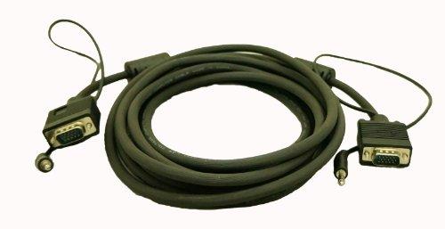 C&E Premium 25 Feet HD15 M/M VGA/SVGA/UXGA with Audio Monitor Projector Cable, CNE09086