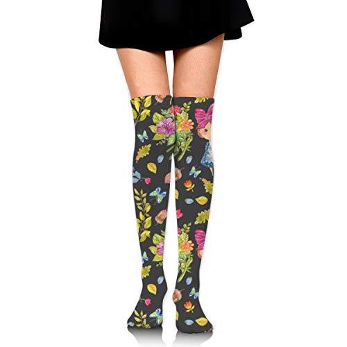 Womens//Girls Colorful Parrots Casual Socks Yoga Socks Over The Knee High Socks 23.6