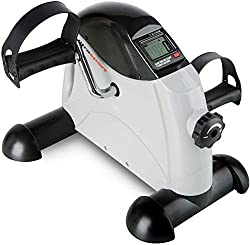 Ultrasport arm and leg trainer Mini Bike MB 100 with transport handle, various resistance levels, LCD display, pedal trainer for seniors and boys, training device for home and office