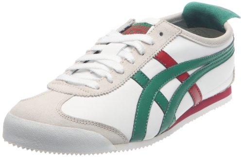 Onitsuka Tiger Mexico 66, Zapatillas Deportivas Unisex para Adulto, Blanco (Blanco Verde Rojo), 39 EU