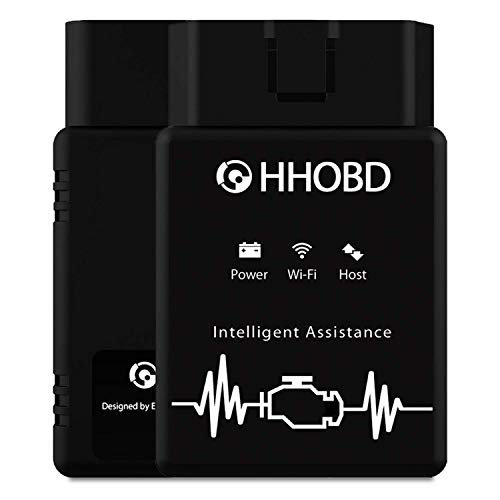 Neues EXZA HHOBD (Wi-Fi, 2020) - Intelligentes OBD2 Diagnosegerät für Fahrzeuge über iOS- & Android Smartphone & PC