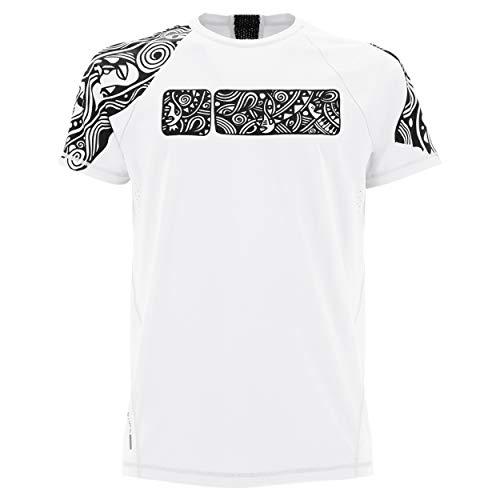 FREDDY T Shirt MC con Stampa Tribale Lalou Bianco Small