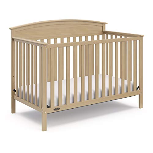 Graco Benton 4-in-1 Convertible Crib, Driftwood, Solid Pine and Wood Product Construction, Converts to Toddler Bed or Day Bed (Mattress Not Included)