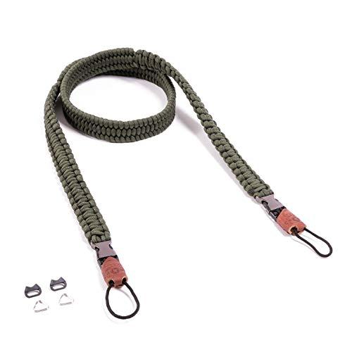 C-Rope Kameragurt The Traveler, 100cm, handgeflochten, Schnellverschluss, Paracord, Oliv