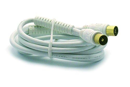 Metronic 3420744380157 kabel TV coaxiaal afgeschermd met ferriet, wit