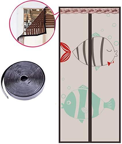Fly scherm deur Velcro magneet muggen gordijn, Anti mosquito bug rolluiken op magnetische ramen puin for de zomer slaapkamer woonkamer Encryption Invisible zand gordijn