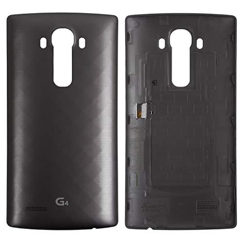 Carcasa de repuesto para tapa trasera de batería compatible con LG G4 F500, G4 H810, G4 H811, G4 H815, G4 H818N, G4 H818P, G4 LS991, G4 VS986, (gris)