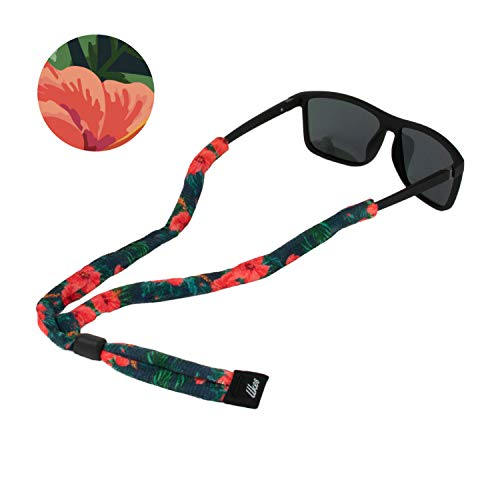 Ukes Premium Sunglass Strap - Durable & Soft Eyewear Retainer Designed with Cotton Material - Secure fit for Your Glasses and Eyewear. (The Alohas)