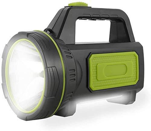 Linterna LED recargable USB impermeable con luz lateral potente de 135 000 lúmenes 6000 mAh para excursionismo de emergencia, caza, camping (con luz lateral)