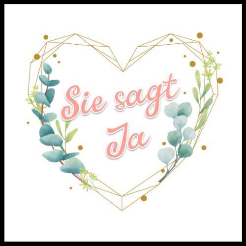 Gästebuch Junggesellinnenabschied: 21 x 21 cm, Dekoration zur Hochzeit, cremefarbenes Papier,...