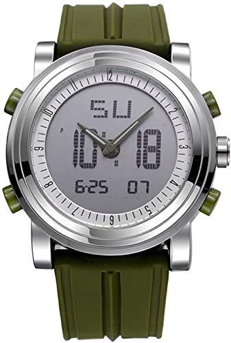 Reloj deportivo para hombre, impermeable, cronógrafo, analógico, digital, verde, el mejor regalo para hombres