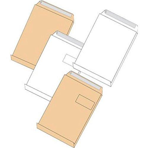 r/össler kuvert 30021434 Faltentaschen E4 ohne Fenster mit 40 mm-Falte und Klotzboden 100 St/ück Elepa 140 g//qm braun