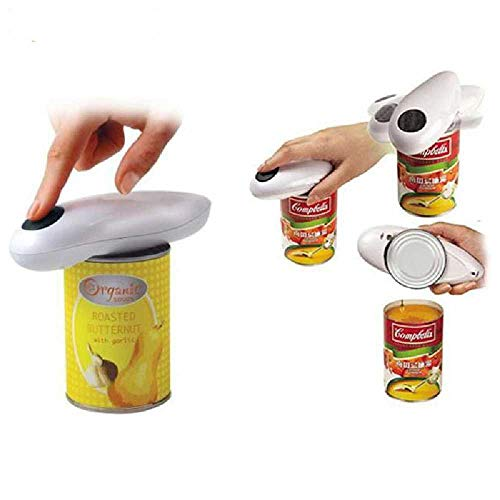 Casiz, apriscatole in acciaio inox per alimenti, con bordo liscio, coperchi di latta, tappi di latta, apribottiglie palmare per tappi di birra, ideale per mancini e amanti all'aperto