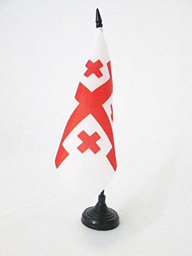 AZ FLAG TISCHFLAGGE Kreuz Orden VOM HEILIGEN Grab ZU Jerusalem 15x15cm - OSSH TISCHFAHNE 15 x 15 cm - flaggen
