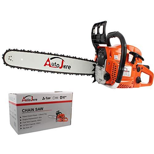 New Gas Chainsaw,20   Bar 52cc Gas Powered Chainsaw 2 Stroke Handed Petrol Gasoline Chain Saw for Cutting Wood
