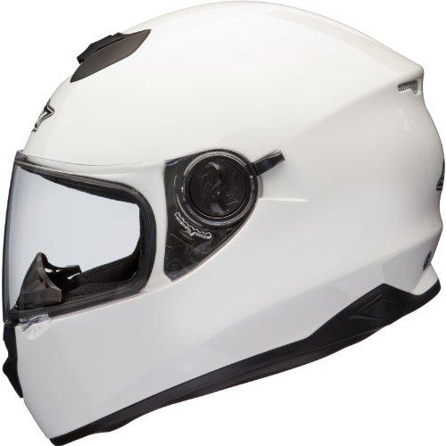 Shox Assault Integral Motorrad Helm M Glänzende Weiß