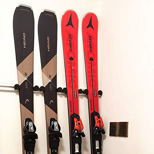 UPHAN Aluminum Heavy Duty Ski and Snowboard Wall Mount Rack,...