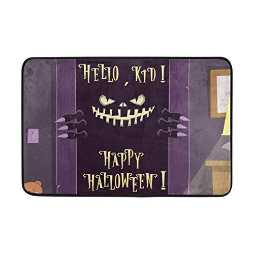 NA Felpudo de Monstruo Espeluznante de Feliz Halloween, Sala de Estar, Dormitorio, Cocina, baño, Alfombra Estampada de Espuma Ligera Decorativa