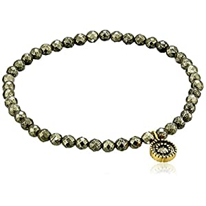 Dainty Pyrite Stretch Bracelet