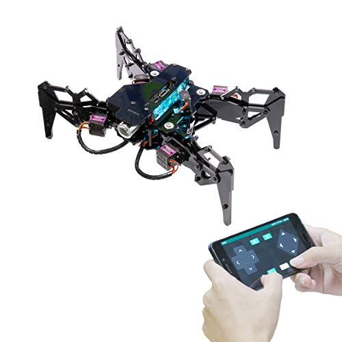 Adeept DarkPaw Bionic Quadruped Spider Robot Kit for Raspberry Pi 4 3 Model B+/B, STEM Crawling...