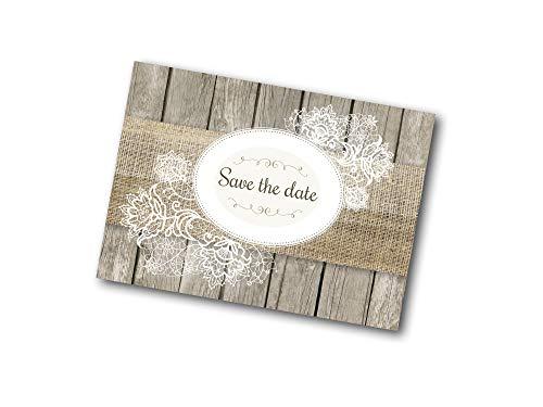 Ja, Ich Will! Romantische Save-The-Date-kaarten voor bruiloft - incl. enveloppen.