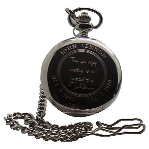 John Lennon Quote Gesigneerd Pocket Horloge Luxe Gift in Box een Grote verzamelbaar voor Beatles Fans