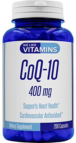 MAXIMUM STRENGTH Co Q-10 400MG PER 2 Capsule Serving – Our Top Rated naturally sourced supplement delivers 400mg of coenzyme Q10 (CoQ10) per 2 capsule serving. Backed with a 100% MONEY BACK GUARANTEE. So ORDER RISK FREE. * BEST VALUE ON AMAZON - 200 ...