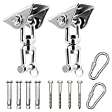 Heavy Duty Swing Hangers 360°Rotate Stainless Steel Hanger with 4 Screw 4 Expansion Bolts...