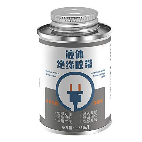FinWell 125ML Liquid Insulation Electrical Tape Tube Paste Waterproof Anti-UV Fast Dry Tape Insulation Seal