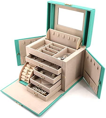 IENPAJNEPQN Caja de joyería para Mujeres niñas de Viaje Collar Anillo Pendientes Organizador joyería Organizador Caja