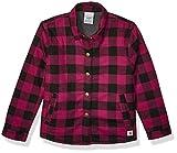 Carhartt Girls' Big Flannel Shirt Jacket, Plum, X-Small