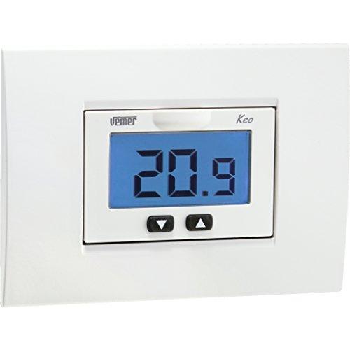 Vemer - Termostato KEO-B empotrable con LCD a Pilas