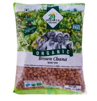 NT# 24 Mantra Organic - Brauner Chana 500g - Bio Brauner Channa, der sehr nahrhaft und völlig unverfälscht ist. Channa gilt als reich an Protein und Ballaststoffen