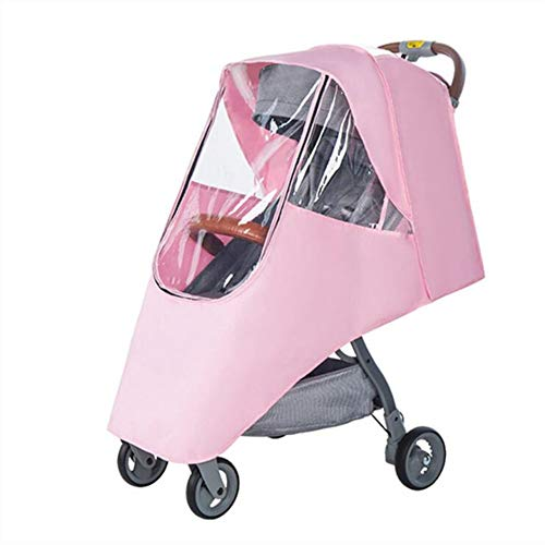 ZYEZI Baby Poussette Accessoire Raincoat Universal Rain Cover Parapluie Trolley Voiture De Voiture Voiture Accessoires Pour Fauteuil Roulant Rose