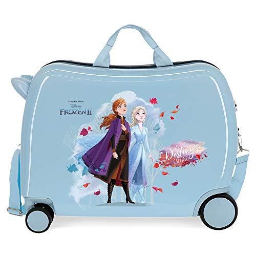 Disney Frozen Nature is magical Maleta Infantil Azul 50x39x20 cms Rígida ABS Cierre combinación 34L 2,1Kgs 4 Ruedas Equipaje de Mano