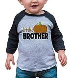 7 ate 9 Apparel Kid's Little Brother Halloween Shirt 12 Months Grey