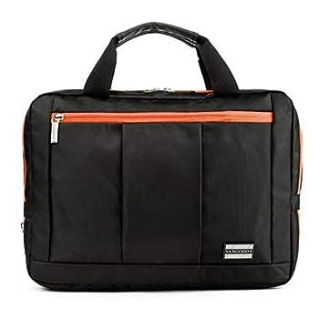 VanGoddy Backpack and Messenger Bag for 15 to 17.3 inch Laptops  Black/Orange