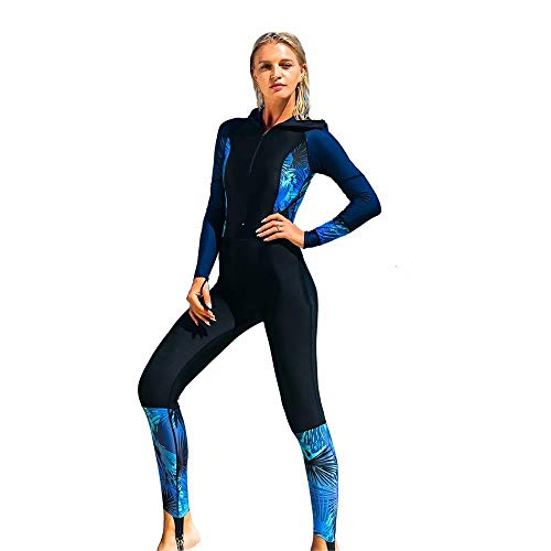 SANANG Damen Langarm Badeanzug Schwimmanzug UV-Anzug UPF>50 Schutzkleidung Sunsuit
