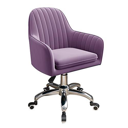 YF-Chair Bürostuhl Schreibtischstuhl Drehstuhl Ergonomischer Bürospielstuhl, Freizeitstuhl mit mittlerer Rückenlehne, Drehfunktion und Rückenstütze, höhenverstellbarer Heimstuhl, 360 ° drehbar