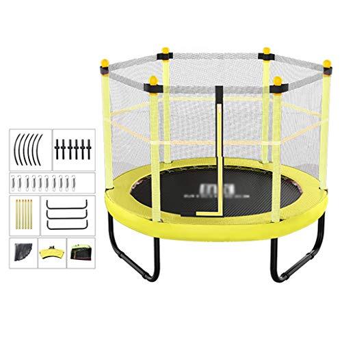 De Tuin Van Kinderen Trampoline Kinder Trampoline Met Net Overdekt Springkussen 48in Voorjaar Trampoline, Lager Ongeveer 250kg (Color : Yellow, Size : 121 * 120cm)